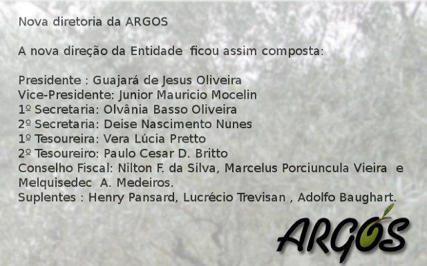 Nova Diretoria da ARGOS