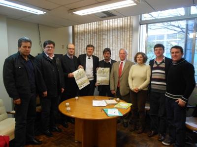Comissão da FinoOliva2014 visita Futuro Presidente da Assembléia Legislativa do RGS, Faculdades de Química e Meio Ambiente e o Local da Realização do Evento na PUCRS