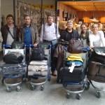 Turma de gaúchos saindo de Porto Alegre para os cursos no IPB