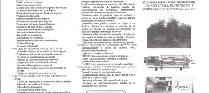 A Argos está apoiando o Curso de Olivicultura, Elaiotecnia e Marketing de 05 Universidades  da Espanha e Portugal